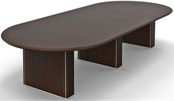 "144"" x 60"" Custom Oval Conference Table w/Cable Channel Bases"