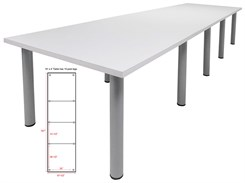 14' x 4' White Conference Table