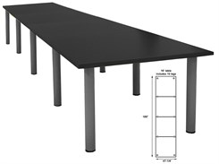 16' x 4' Post Leg Conference Table