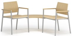 Avon 2-Chairs/Corner Table Set � Plywood Back/Seat
