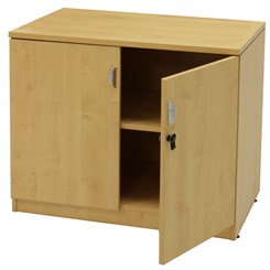 Maple 2-Door Locking Storage Cabinet