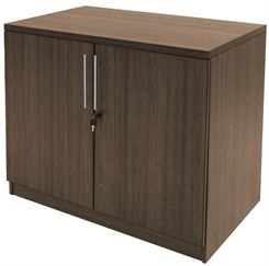 Modern Walnut 29�H 2-Door Cabinet