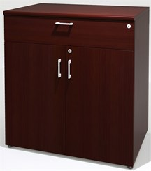 Custom 2-Door Conference Buffet Cabinet w/Bullnose Trim