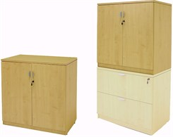 Maple 36″H 2-Door Locking Storage Cabinet