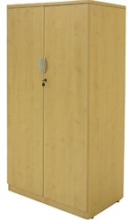Maple 66″H 2-Door Locking Storage Cabinet