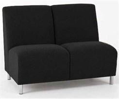 Ravenna 2- Seat Armless Sofa in Upgrade Fabric or Healthcare Vinyl