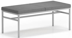 Avon 2-Seat Fully Upholstered Bench � Upgrade Fabric or Healthcare Vinyl