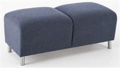 Ravenna 2 Seat Bench in Upgrade Fabric or Healthcare Vinyl