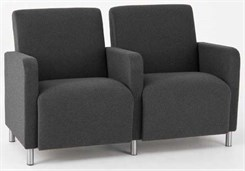 Ravenna 2 Seats w/ Center Arm in Standard Fabric or Vinyl