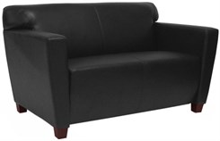 Black Leather 2-Seater