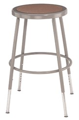 "25""-33""H Adjustable Height Heavy-Duty Lab Stool - 300-lb Weight Capacity"