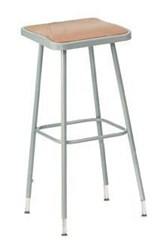 "25""-33"" Square Adjustable Height Heavy-Duty Lab Stool - 300-lb Weight Capacity"