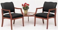Franklin 2 Arm Chairs w/Corner Table in Upgrade Fabric or Healthcare Vinyl