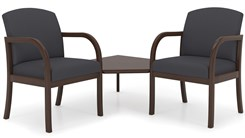 Weston 2-Arm Chairs w/Corner Table