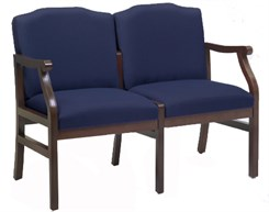 Bristol 2-Seat Loveseat in Standard Fabric or Vinyl