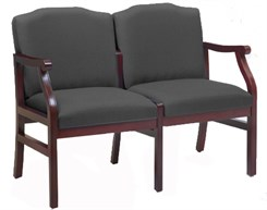Bristol 2-Seat Loveseat in Upgrade Fabric or Healthcare Vinyl