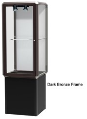 2' Prominence Pedestal Display Case with Lighting
