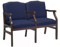 Bristol 2-Seats w/Armrests in Standard Fabric or Vinyl