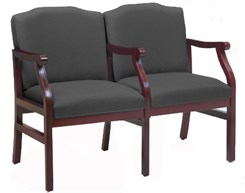Bristol 2-Seater w/ Armrest in Upgrade Fabric or Healthcare Vinyl