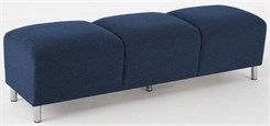 Ravenna 3 Seat Bench in Standard Fabric or Vinyl