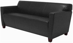 Black Leather 3-Seater