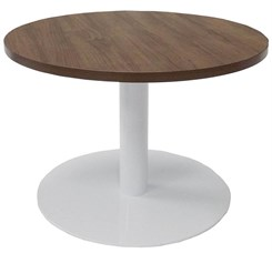 "30"" Round x 19""H Metal Disc Base Coffee Table"
