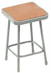 "30"" Square Fixed Height Heavy-Duty Lab Stool - 300-lb Weight Capacity"