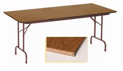 "30"" X 72"" Heavy-Duty Plywood Core Folding Table"