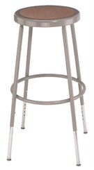"31""-39""H Adjustable Height Heavy-Duty Lab Stool - 300-lb Weight Capacity"