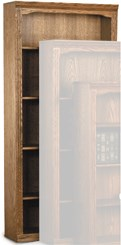 "33""W x 72""H Traditional Oak Bookcase"