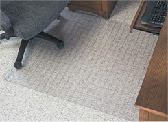 "Checkered .14"" Chair Mats w/Beveled Edge-36""x48"" w/Lip - See More Sizes"