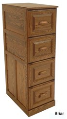 4-Drawer Genuine Oak File
