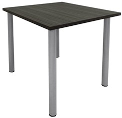 4' Square Standing Height Conference Table w/Round Post Legs