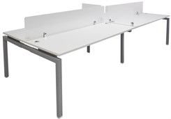 "4-Person Benching Workstation w/ 71"" x 28"" Worksurfaces"