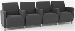 Ravenna 4 Seats w/ Center Arms in Standard Fabric or Vinyl