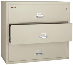 "44""W 3-Drawer FireKing Fireproof Lateral File"