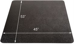 "45""x 53"" Black Rectangular Hard Floor Chair Mat"