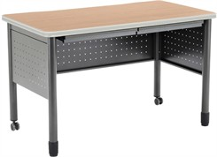 "47-1/4"" Wide Steel Table / Desk"