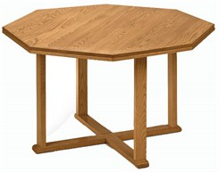 "48"" Solid Oak Octagonal Conference Table"