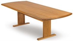 "48"" x 120"" Solid Oak Curved End Conference Table"