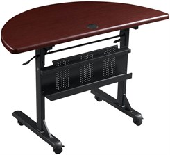 "48""W x 24""D Half Round Flip-Top Training Table"
