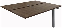 4' Add-On Technology Table w/Two 48� x 24� Worksurfaces