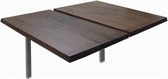 "4' Add-On Technology Table w/ 48"" x 24"" Solid Wood Tops"