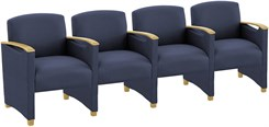 Somerset 4-Seater w/Center Arms in Standard Fabric or Vinyl