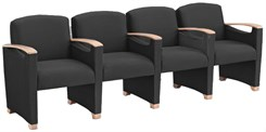 Somerset 4-Seater w/Center Arms in Upgrade Fabric or Healthcare Vinyl