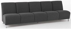 Ravenna 5 Seat Armless Sofa in Standard Fabric or Vinyl