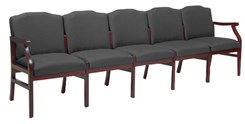 Bristol 5-Seat Sofa in Upgrade Fabric or Healthcare Vinyl