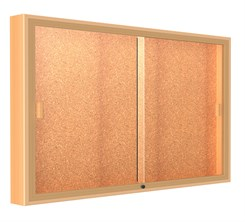 "60""W x 48""H Sliding Door Wall  Mount Display"