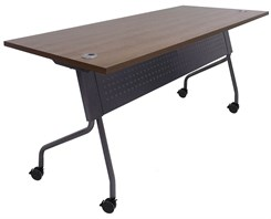 "66"" x 30"" Flip Top Training Table w/Privacy Panel"