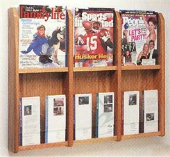 6 Magazine/12 Brochure Pocket Rack